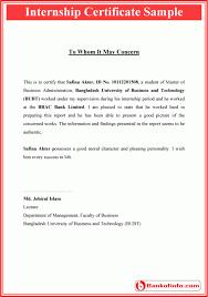 internship certificate format letter pinterest certificate