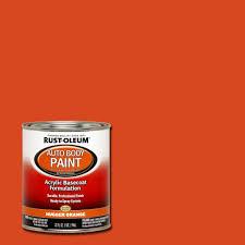 rust oleum automotive 1 qt auto body hugger orange paint case of