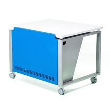 Blue Computer Desk by Connect Computer Desk Bcg Design Group