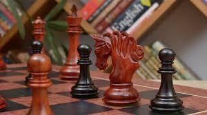 combo of pegasus series artisan staunton chess set in ebony bud