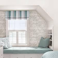 Interior  Stunning Gray Brick Backsplash WallPops Grey And White - White brick backsplash