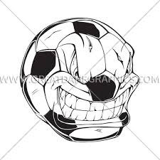 soccer angry ball production ready artwork for t shirt printing