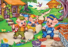 pigs story fairy tale simple english kids
