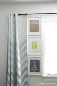 Gray Chevron Curtains Ombre Chevron Curtains In Boys Nursery