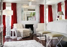 In The White Room With Black Curtains Red Curtains Houzz