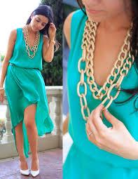 layla asgari bcbg asymmetrical dress gold chain necklaces