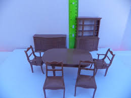 Dollhouse Dining Room Furniture Vintage Marx Dollhouse Dining Room Furniture 6 Set Marx