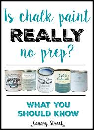 when to prep before chalk paint canary street crafts