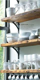 Kitchen Wall Shelving by Best 25 Cottage Kitchen Shelves Ideas Only On Pinterest Cottage