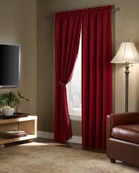 Velvet Blackout Thermal Curtains Amazon Com Maytex Velvet Blackout Panel Red 40 In X 84 In