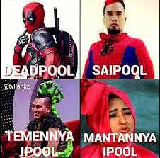Deadpool Funny Memes - meme saipul jamil deadpool