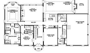 One Story House Plans With Bonus Room Four Bedroom Single Story House Plans Affordable Single Level