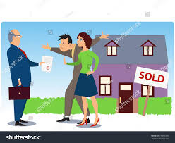 conflict over real estate sell eviction stock vector 140856880