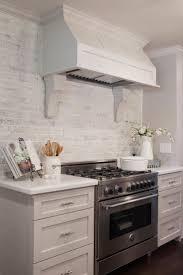 brick tile kitchen backsplash white brick kitchen backsplash kitchen cabinets remodeling net