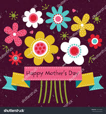 vector mothers day card bright colors stock vector 134157488