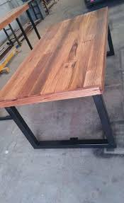 dining tables reclaimed wood and metal dining table barn wood