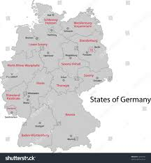 Bavaria Germany Map by Gray Germany Map Regions Main Cities Stock Vector 32295742