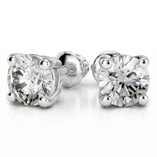 diamond stud earings 18k 1ctw vs2 si1 g h back diamond stud earrings