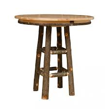 round bar table and stools rustic hickory bar height pub table 36 or 42 round top