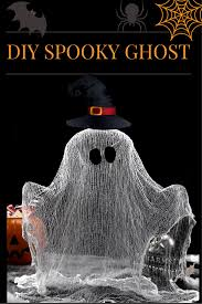 make a cute ghost with cheesecloth and glue diy