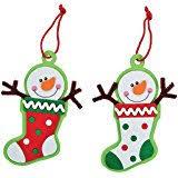 snowflake ornaments craft foam kit makes 24