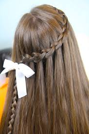 Simple Girls Hairstyles by Beautiful And Simple Hair Style For Medium Hair Girlbraids