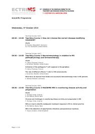 Medical Transcription Sample Programme Ectrims2015