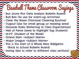 themed sayings baseball theme classroom sayings bulletin boards