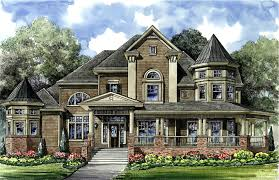 victorian with 3 car detached garage 67088gl architectural
