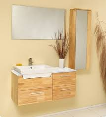 Bathroom Cabinets Wood Caro 35 Inch Wood Modern Bathroom Vanity With Mirrored