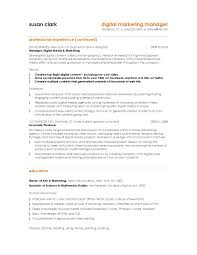 Sample Resume Account Manager by Digital Marketing Sample Resume Free Resume Example And Writing