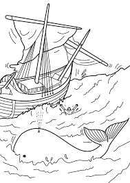 jonah and the big fish coloring page script and bible story