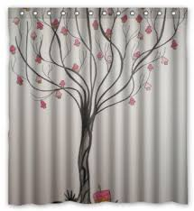 Salmon Colored Shower Curtain Pink Grey Shower Curtain Vcny Home Stockholm Shower Curtain In
