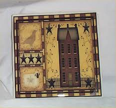 salt box houses primitive trivet ceramic tile country kitchen salt box decor house
