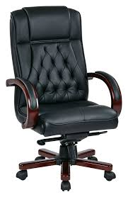 Leather Executive Desk Chair Office Star Leather Executive Chair With Royal Cherry Base And