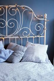 headboard reading ls bed metal headboard with string lights i m going to attach a flower to