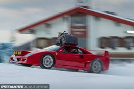 slammed ferrari f40 filming in the snow with an f40 anything cars the car enthusiasts
