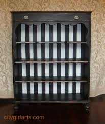 White Distressed Bookcase by Antique Black And White Striped Bookcase Bun Footed Bounty U2013 City