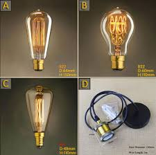 st48 e14 vintage squirrel 40w incandescent edison light bulb st64