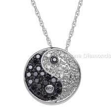 yin yang necklace from gemone diamonds for fashion