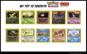 Pokemon Card Meme - top 10 pokemon tcg neo discovery set cards by whosaskin on deviantart