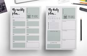 goals planner template modern weekly planner daily planner by chic templates modern weekly planner daily planner by chic templates thehungryjpeg com