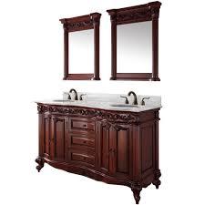 eleanor 60 inch antique double bathroom vanity set