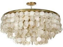 Capiz Shell Light Fixtures Captivating Capiz Shell Chandelier Shabby Chic Chandelier Shell