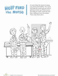 community helpers nurse worksheet education com