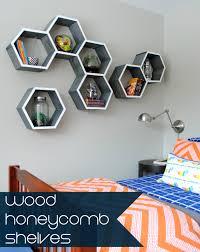 diy wood honeycomb shelves jenna burger