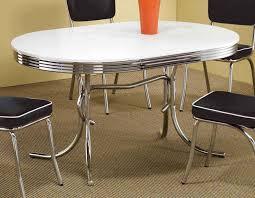 50s Dining Chairs Coaster Mix U0026 Match Round Retro Dining Set Black Chair 2388 Blk