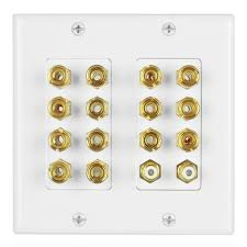 best 7 2 home theater speakers home theater speaker wall plate outlet 7 2 7 1 banana plug binding
