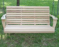 5 Ft Patio Swing With Cedar Pergola Create by Wooden Swing Etsy