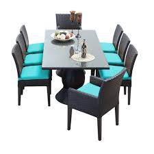 tk classics napa 9 piece wicker dining set with cushions modern